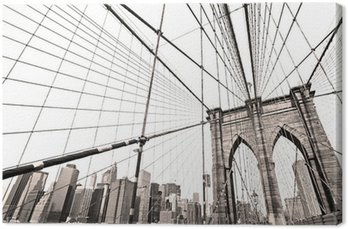 Canvas Print Manhattan bridge, New York City. USA.