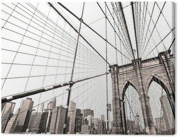 Manhattan bridge, New York City. USA. Canvas Print