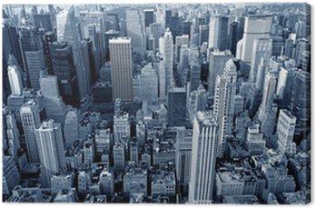 Manhattan top view Canvas Print
