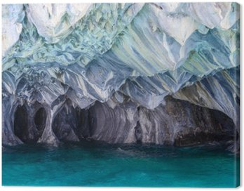 Canvas Print Marble Caves of lake General Carrera (Chile)