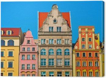 Canvas Print Market square tenements, Wroclaw Poland