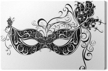 Canvas Print Masks for a masquerade. Vector party mask.