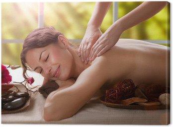 Massage. Spa Salon Canvas Print