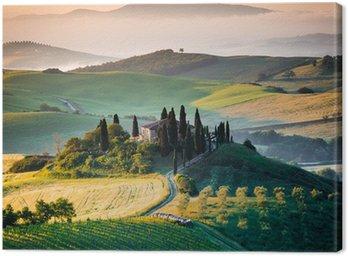 Mattino in Toscana, paesaggio e colline Canvas Print
