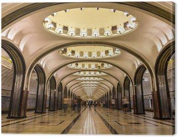 Mayakovskaya metro station in Moscow, Russia Canvas Print