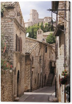 Canvas Print Medieval Italian street