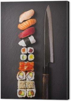 Messer mit Sushi