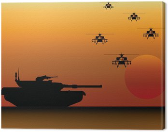 Military Tank and Helicopters