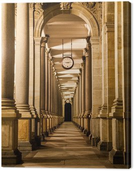 Mill colonnade at night Canvas Print