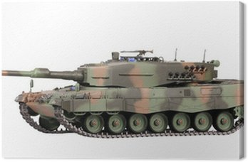 Canvas Print Model of tank isolated