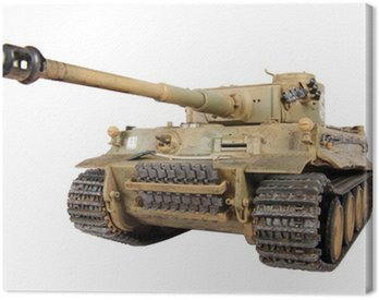 Canvas Print Model of tank Tiger isolated