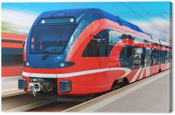 Canvas Print Modern high speed train