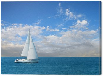 Canvas Print modern sail boat