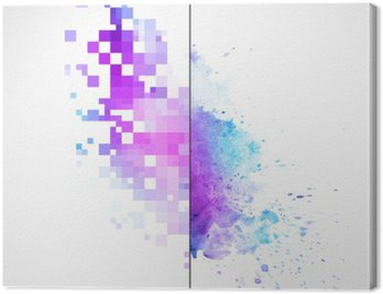 Canvas Print Modern vector background with watercolor blot