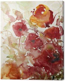 Canvas Print mohnblumen malerei aquarell