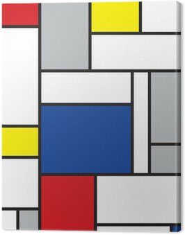 Canvas Print mondrian inspired art