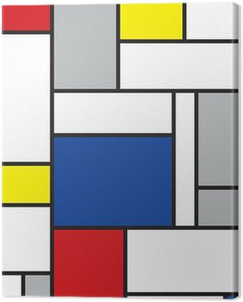 mondrian inspired art Canvas Print
