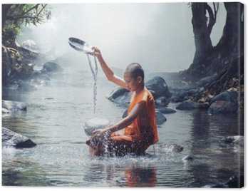 monk play water Canvas Print