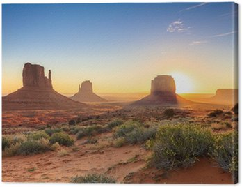 Canvas Print Monument Valley twilight, AZ, USA