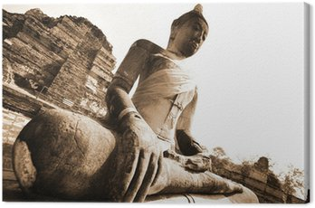 Monuments of buddah, ruins in Ayutthaya, old capital THAILAND