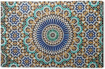 Canvas Print moroccan vintage tile background