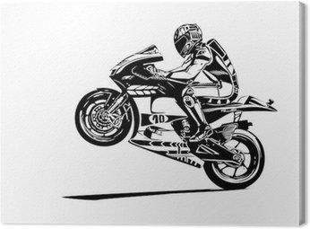 Canvas Print moto gp wheelie