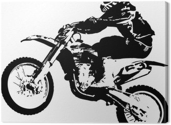Canvas Print Motocross jumper