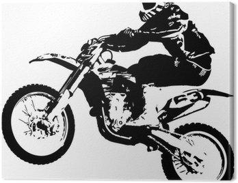 Canvas Print Motocross jumper