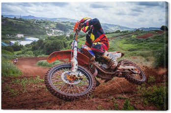 Canvas Print Motocross rider