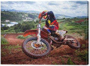 Canvas Print Motocross rider