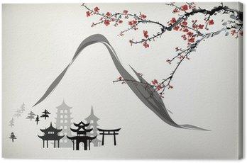 Canvas Print mountain pavilion