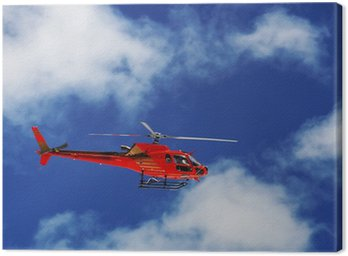 Canvas Print Mountain Rescue Helicopter