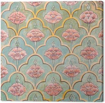 Canvas Print Mughal wall paintings at Jaipur city palace