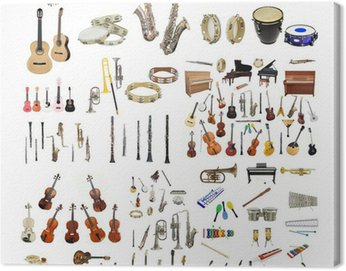 Canvas Print music instruments