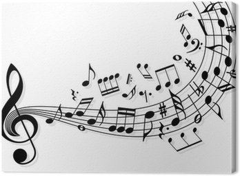 Canvas Print Music notes