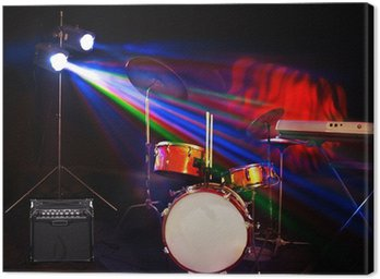 Canvas Print Musical instrument on stage.