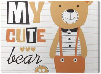 my cute teddy bear vector illustration