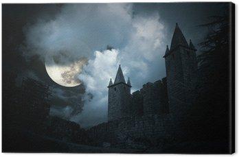 Canvas Print Mysterious medieval castle