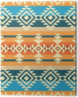 Canvas Print Navajo style geometric seamless pattern