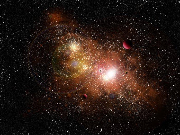 Canvas Print nebuleuse dans l'espace - Themes