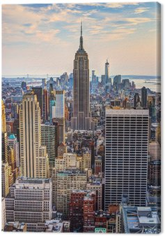 Canvas Print New York City at Dusk