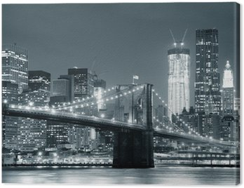 Canvas Print New York City Brooklyn Bridge