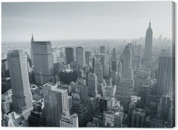 Canvas Print New York City skyline black and white