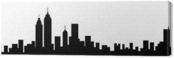 Canvas Print New York City Skyline Silhouette