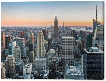 Canvas Print New York Skyline at sunset