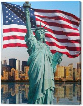 Canvas Print New York skyline, statue de la liberté