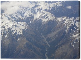 Canvas Print new zealand southern alps snow capped mountains 9