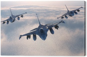 Canvas Print Night fighters