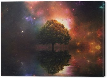 Canvas Print Night sky and tree
