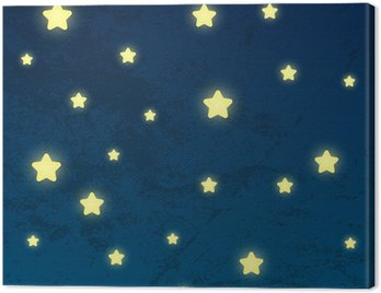 Night sky with shiny stars Canvas Print